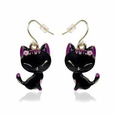 online te koop laagste prijs online te koop Katten Oorbellen - Happy Cat
